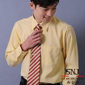 【S-15-3】森奈健-專業自信辦公室男長袖襯衫(黃色條紋)
