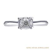 GIA D IF 3EX 30分雋永鑽戒 車花放大款 King Star海辰國際珠寶 訂婚求婚戒 八心八箭