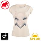 【MAMMUT 長毛象 女 Mountain T-Shirt 短袖上衣《白月光》】1017-00962/排汗衣/抗UV/運動衣