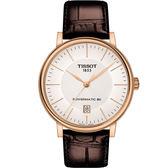 TISSOT天梭CARSON都會品味紳士機械錶(T1224073603100)40mm