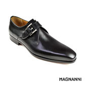 【MAGNANNI】單釦孟克紳士皮鞋 黑色(17363-BL)