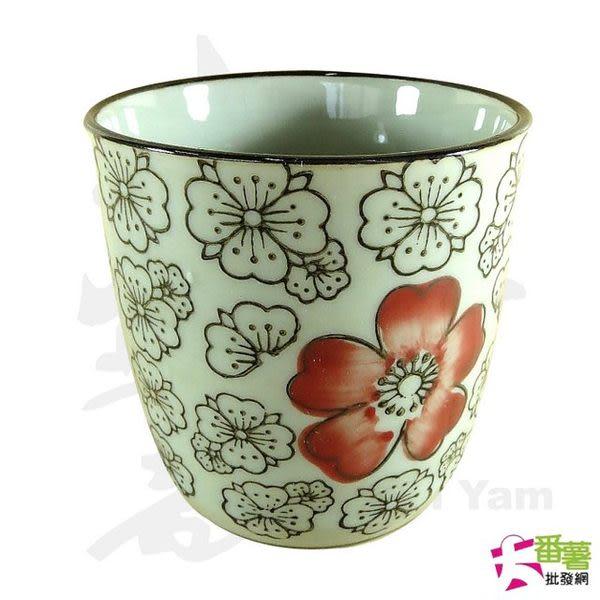 日式大茶杯 梅花紅富貴 (100207) [大番薯批發網 ]