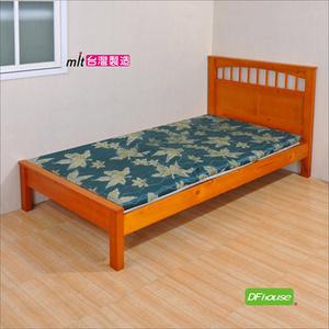 《DFhouse》黛爾夢3.5尺單人緹花布透氣床墊-3色綠花紋