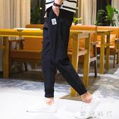 夏季男士休閒褲男束腳褲韓版哈倫褲九分褲寬鬆小腳運動褲   歐韓時代