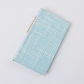 精裝藍麻名條名片本120入-生活工場