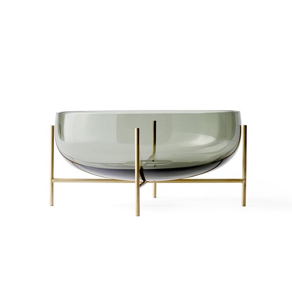 丹麥 Menu Echasse Bowl 29.5cm 伊雀思 水滴造型 煙燻玻璃 水果皿 / 置物碗 - 大尺寸