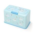 小禮堂 大耳狗 方形按壓彈蓋口罩盒 塑膠口罩盒 口罩收納盒 面紙盒 (藍 滿版) 4550337-16184