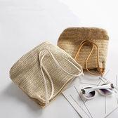 側背包 2018夏季新款日系森女包手袋度假藤草編包小包手提包單肩側背包81 芭蕾朵朵