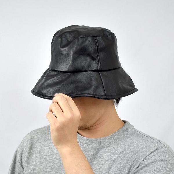 漁夫帽 個性質感素面軟皮革NHD30