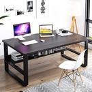 電腦桌電腦桌簡約臺式辦公桌家用學生簡易書桌現代臥室寫字桌單人小桌子LX 晶彩 99免運