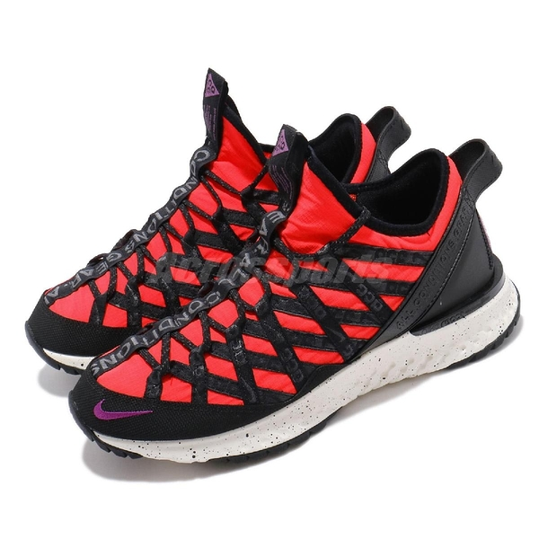 Nike 休閒鞋 ACG React Terra Gobe 紅 黑 紫 反光 戶外血統 男鞋 襪套式 【ACS】 BV6344-600