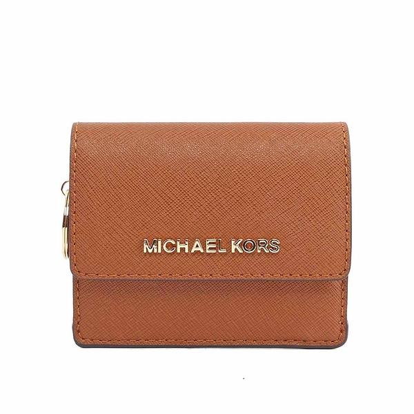 【MICHAEL KORS】素面皮革萬用小夾(焦糖) 35F7GTVD2L LUGGAGE