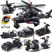 組裝積木積木男孩子軍事直升飛機5小學生7兒童拼裝組裝玩具6-8-12歲