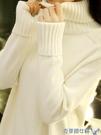 打底衫 高領黑白色毛衣女士內搭秋冬2019新款時尚寬鬆針織打底衫加厚外穿 交換禮物