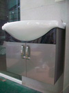 【麗室衛浴】全台獨賣    陶瓷面盆+不鏽鋼浴櫃組   65*50*54cm