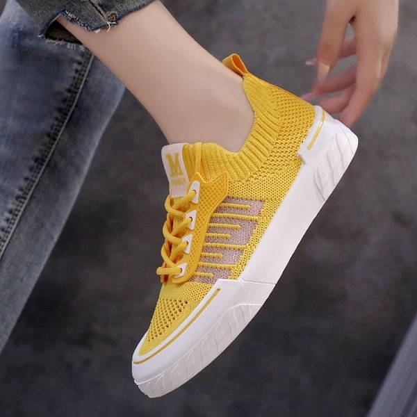網鞋女2021夏季新款學生韓版透氣飛織網面小白鞋鏤空軟底鞋子板鞋 道禾