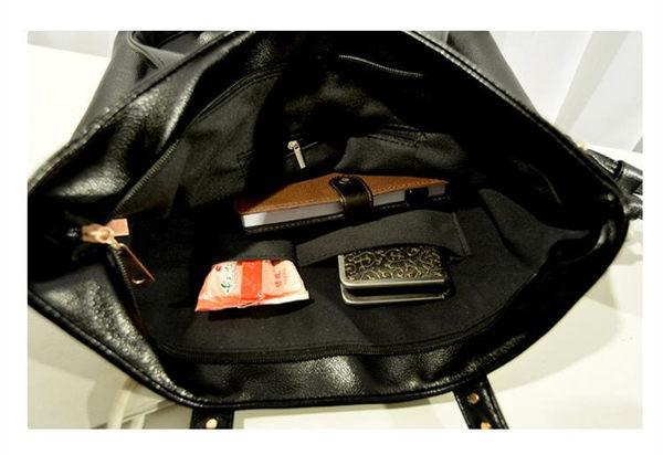 側背包 新款韓版黑白拼接時尚手提包 托特包A8181   寶來小舖 Bolai shop  現貨販售