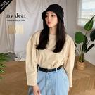 MD韓【01200040】澎袖棉麻上衣-2色