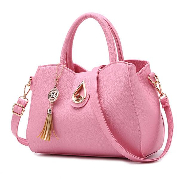 手提包【現貨販售】新款荔枝紋水滴造型立體轉釦側背包/斜背包-T1623-寶來小舖