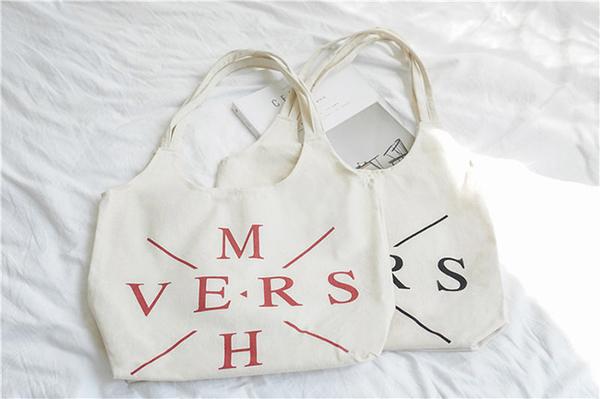 帆布袋 字母 帆布袋 背心包 手提袋 環保購物袋--手提/單肩【SPBX09】 BOBI  07/19