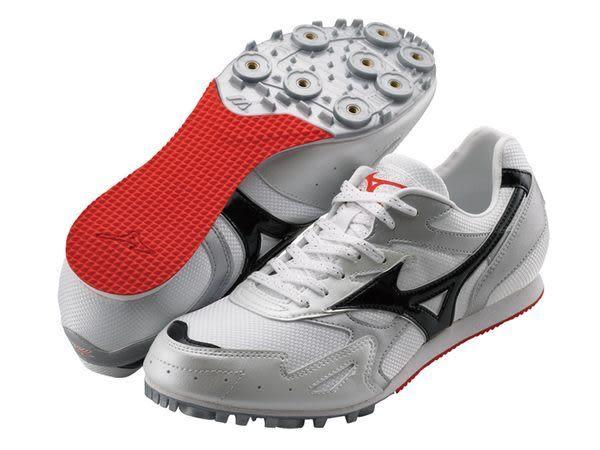 MIZUNO美津濃 田徑釘鞋(白*紅 男女同款) TMC SPLIT 2 中長距離 7mm尖釘 8KM-29909
