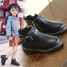 2019秋冬新款女童短靴複古英倫風馬丁靴時尚男童靴子學生加絨皮靴