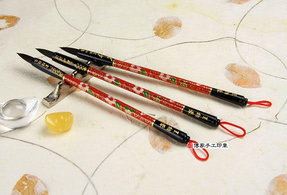 胎毛筆《傳家全手工精製 景泰藍(紅)經典全手工胎毛筆1支》胎毛筆,胎毛筆,胎毛筆