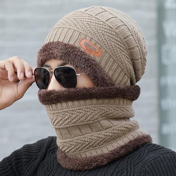 針織帽 帽子男冬天針織毛線帽加絨加厚韓版潮保暖防寒騎車秋冬季男士棉帽【快速出貨】