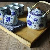 陶瓷茶具套裝整套提梁茶壺茶杯家用日式中式提梁壺WY