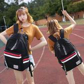 書包 初中生書包女韓版原宿ulzzang 校園大容量高中學生簡約帆布雙肩包 曼慕衣櫃
