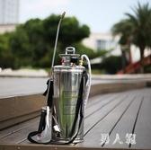 農用噴霧機不銹鋼噴霧器農用噴灑水打灑水機氣壓式高壓力小型打農灑水桶噴霧瓶 PA8124『男人範』