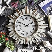 TROMSO法式香榭-雅典陽光刷白鏡飾時鐘