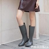 日系長筒雨靴時尚款外穿防滑水靴輕便防水套鞋水鞋高筒雨鞋女【快速出貨】