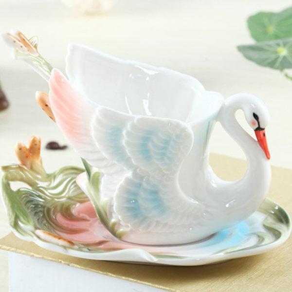 Pure 天鵝骨瓷杯盤組x1