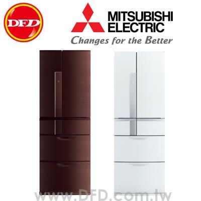 三菱 MITSUBISHI MR-JX53X 六門冰箱 525L 日本原裝 棕/白 ※運費另計(需加購)