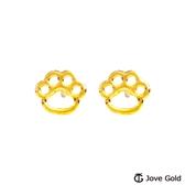 Jove gold 漾金飾 毛寶貝黃金耳環