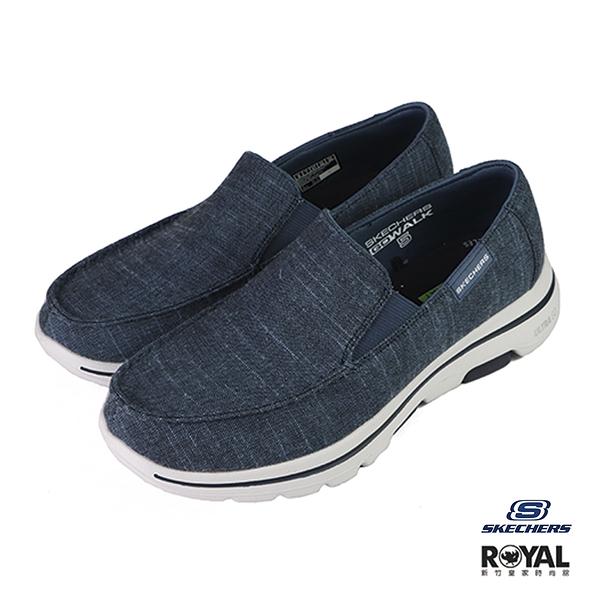 Skechers Go Walk 5 牛仔藍色 布質 休閒鞋 男款 NO.B1354【新竹皇家 216026NVY】