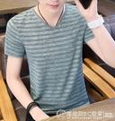 男士短袖t恤冰絲夏季韓版潮流半袖鏤空網眼汗衫透氣男裝上衣 自由角落