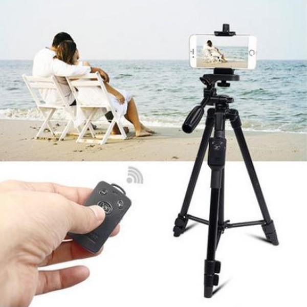 【VCT-5208RM】相機/手機藍芽三角腳架 相機腳架 三角支架 附腳架袋+遙控+手機夾+USB線