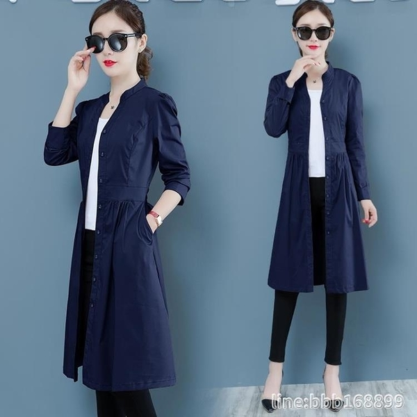 風衣外套 韓版寬鬆顯瘦小個子流行外套女早秋新款氣質薄款風衣中長款潮 城市科技
