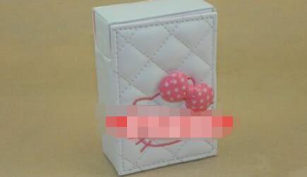 女士煙盒  立體粉色波點蝴蝶結【藍星居家】
