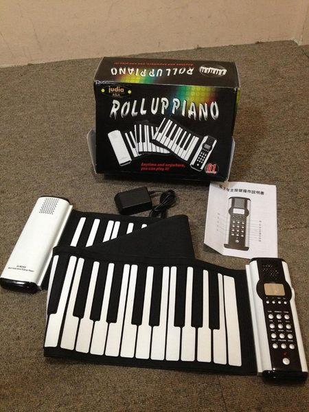 【金聲樂器廣場】最新款 JUDIA 手捲式電子琴 61鍵 有MIDI介面 雙邊喇叭