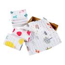 兒童口水巾六層紗高密褶皺餵奶巾小方巾30*30cm-JoyBaby