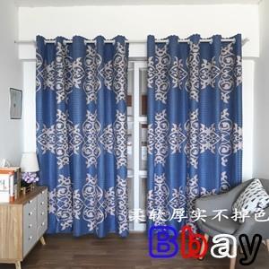 Bbay 窗簾 定制隔斷簾半遮光簡約現代客廳臥室陽臺飄窗窗簾成品布料歐式短簾