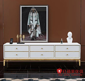 [紅蘋果傢俱] 輕奢風WSWMS769 電視櫃 地櫃 輕奢電視櫃 不鏽鋼材質 收納櫃 置物櫃 客廳
