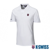 K-SWISS Heritage Polo W/Shield Logo Patch短袖POLO衫-男-白