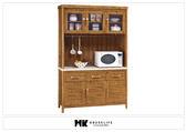 【MK億騰傢俱】BS308-01愛莉絲柚木4.2尺餐櫃組(含石面)