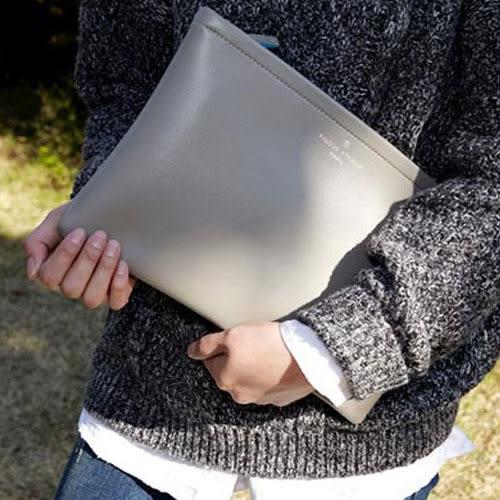 手拿包 艾爾莎 首爾女孩素面質感復古信封包手拿包【TBB6857】