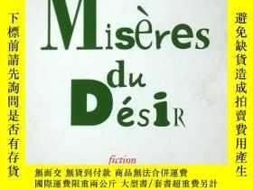 二手書博民逛書店法文原版罕見Misères du DésirY137730 AL