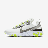Nike W React Element 55 Prm [CD6964-100] 女鞋 慢跑 運動 輕量 避震 白灰